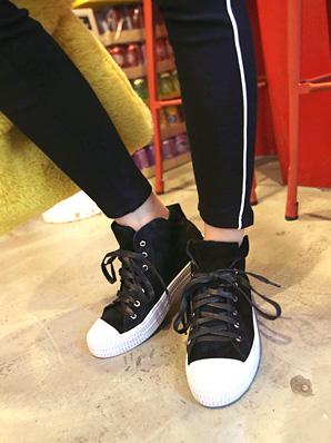 牛顿高,胶底帆布鞋[黑245 /黑250]