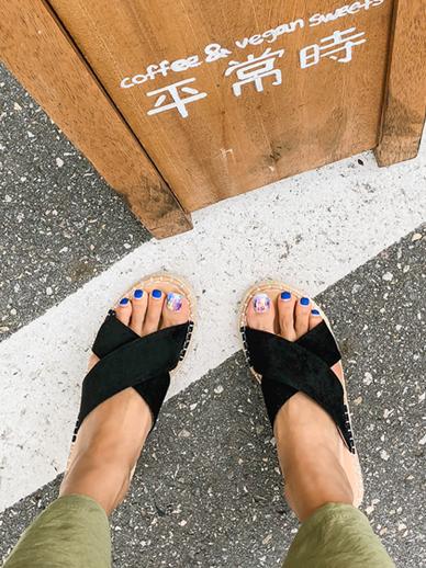 沙滩,鞋子