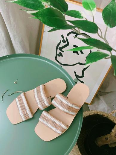 彩色藤条,拖鞋