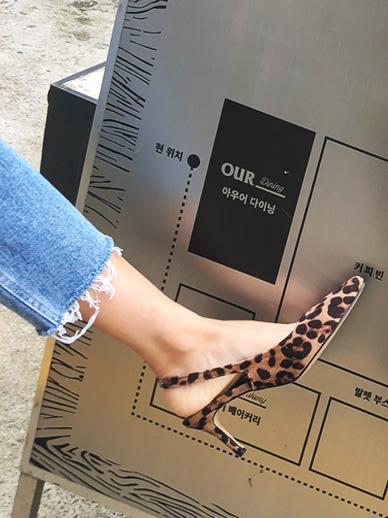 曼德拉豹纹高跟鞋,山