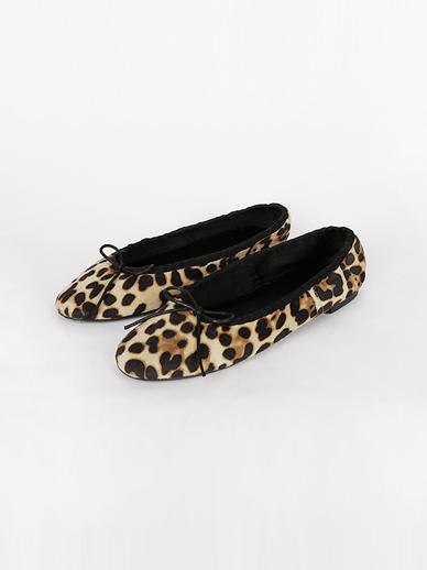 [SALE]蝴蝶结豹纹,平底鞋(配件鞋240)