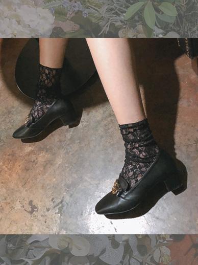 花蕾丝,袜子