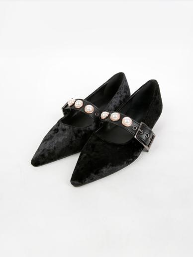 [SALE]黑珍珠,平底鞋(配件鞋,240)