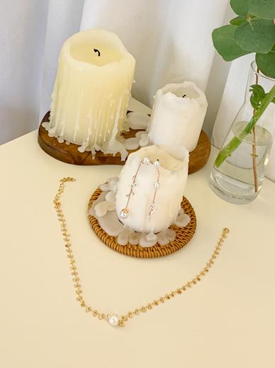 珍珠链,短项链