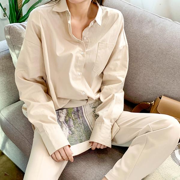简单米色,衬衫